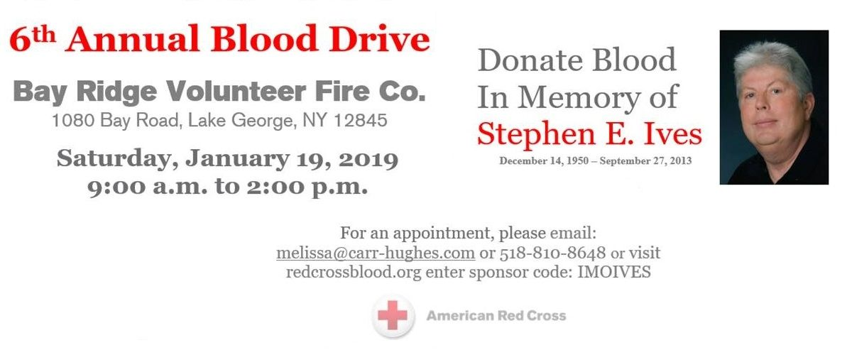 January 2019 Annual Blood Drive